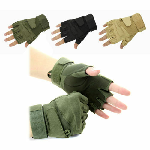 Fashion Sports Fingerless Military Tactical Airsoft Hunting Riding Game Gloves