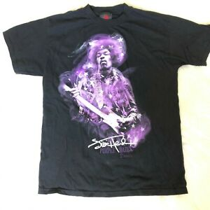 Jimmy-Hendrix-Men-039-s-Size-Medium-Purple-Haze-T-shirt-Black