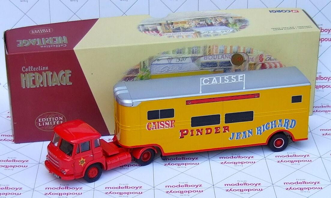 Corgi Pinder Circus Saviem JL Avec Remorque Fruehauf CAiSSE EX70903 1 50 Scale