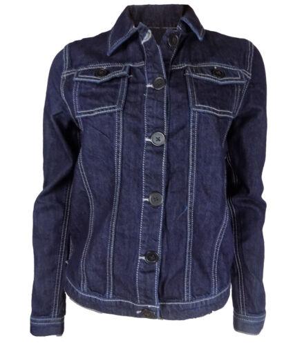 Girls Dark Blue Denim Jacket Button Front UK 6//7-14//15yrs