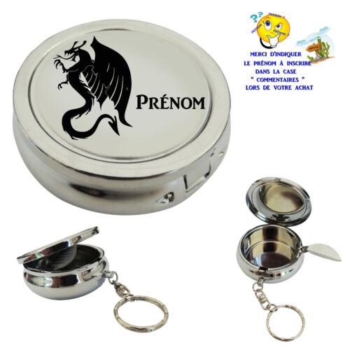 cendrier de poche porte clé dragon personnalisable  prénom au choix réf 12