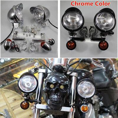 Universal Driving Spot Fog Passing Turn Signal Light Lamp Holder Bracket Mount Screws Kit for Motorcycle Motorbikes