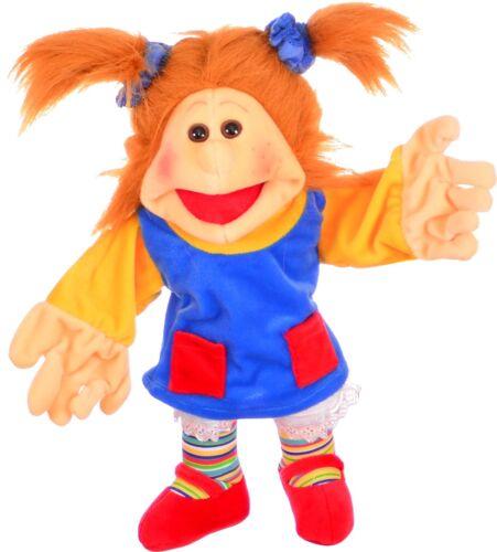 Handpuppe 35cm Mädchen Kleine Lotta Bauchrednerpuppe für Kinder Living Puppets Puppen & Zubehör