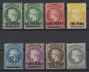 G129972-ST-HELENA-BRITISH-COLONY-LOT-1884-1894-MINT-MH-CV-155