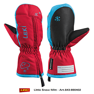 LEKI Little Snow Mitt Art. 643890402 - Kinder Ski Handschuhe Fäustlinge mit RV