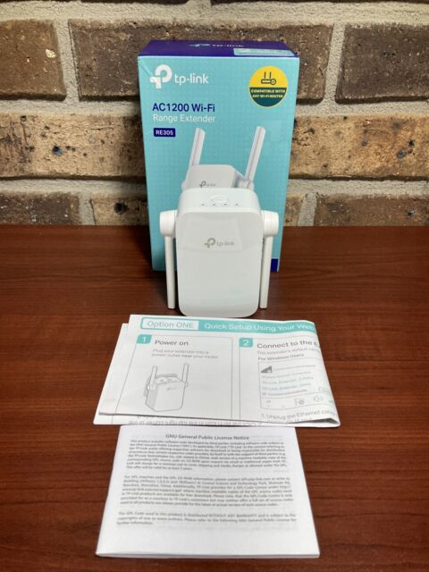 TP-LINK AC1200 Wi-Fi Dual Band Range Extender RE305 5GHz 2.4 GHz wireless
