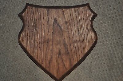 Trophy Oak mounted shield plaque