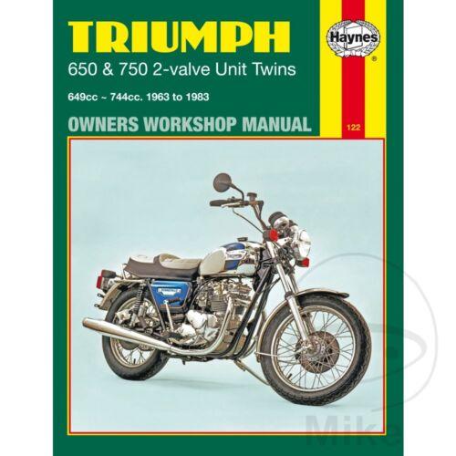 Triumph T120 650 Bonneville 1963-1972 Haynes Service Repair Manual 0122