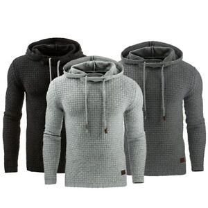 New Men's Winter Slim Warm Hooded Sweatshirts Hoodies Coat Jacket Jumper Outwear