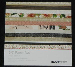 "Kaisercraft 'ANTIQUE BAZAAR' 6.5"" Paper Pad KAISER *Deleted 2 left only*"