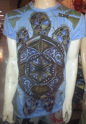 New Men Shirt short sleeve cotton Sea Ocean Animal Turtle Turtoise  L Sure buy