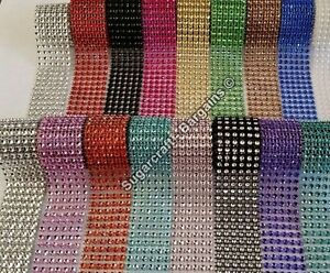 Bling Ribbon Sparkly Sugarcraft Cake Decorating Card Craft Mesh Silver Diamante Kitchen, Dining & Bar