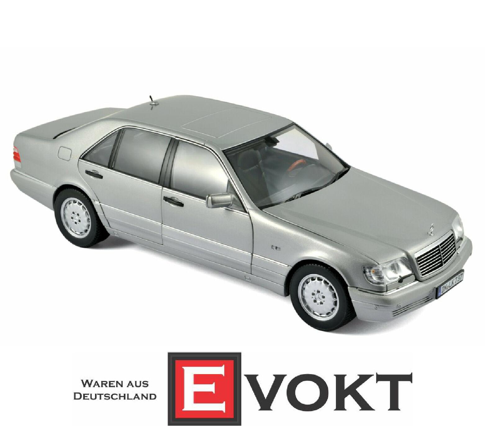 Mercedes-Benz S 600 Argent construit en 1997 échelle 1 18 par NOREV