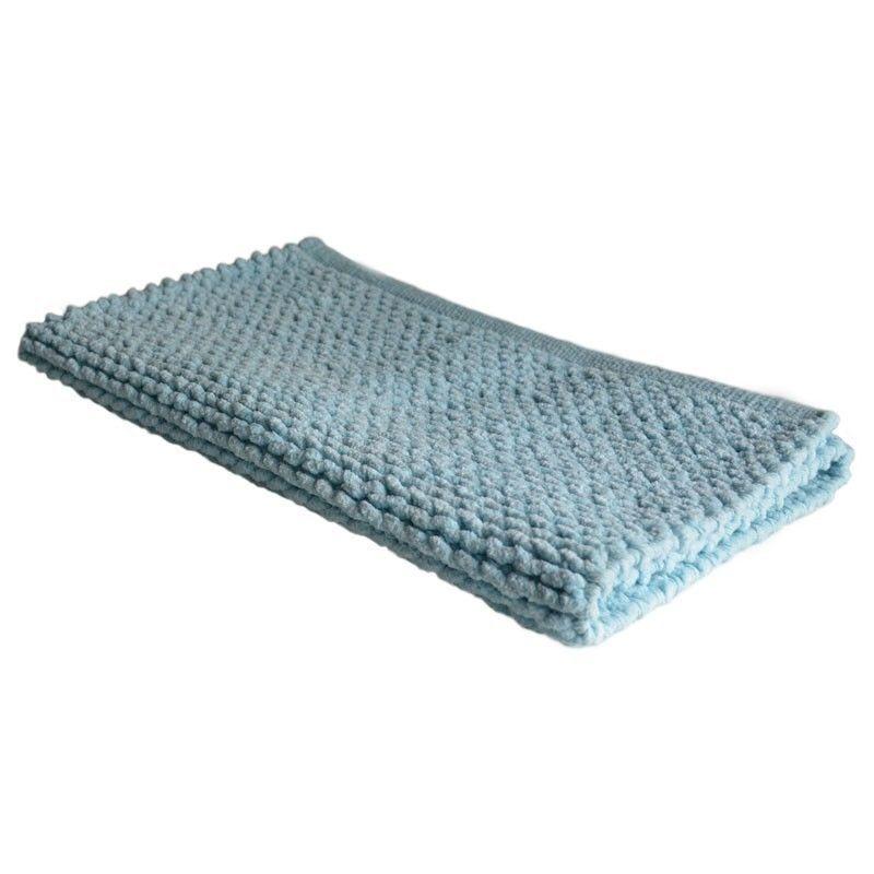 Pair of GainsbGoldugh 100% Cotton Cable Knit Bath Mat Bath Rug Sea   99.95