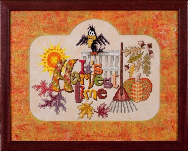 Wichelt Permin PREMIUM LINEN FABRIC 32 Ct Cross Stitch 18 x 27 HALLOWEEN Orange