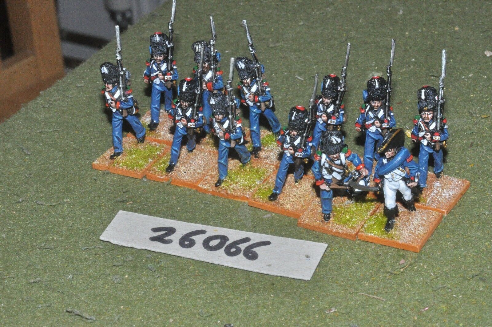 25mm napoleonic   french - light 12 figures - inf (26066)