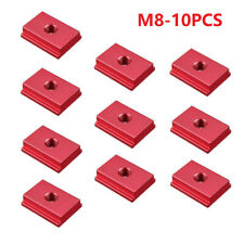 10x M6// M8 T-Track Slider Aluminum Alloy T Slot Nut For Woodworking Tool Pack