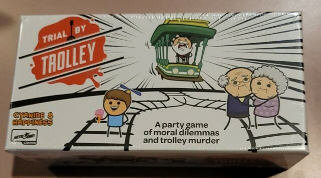 Trial By Trolley Party Game Moral Dilemmas And Trolley Murder Skybound SKY 4214
