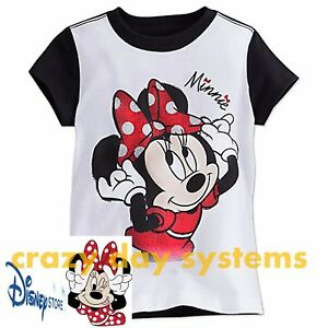0989a5fdee49 Disney Store Minnie Mouse Red Polka Dot Tee Girls T Shirt Size 5 ...