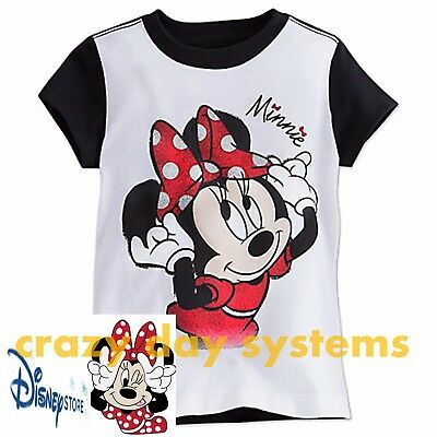 Disney Store Authentic Minnie Mouse Red Polka Dot Girls T Shirt Tee Size XL 14