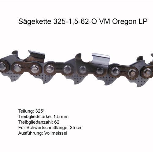 Oregon LP Sägekette 325 1.5 mm 62 TG VM Ersatzkette