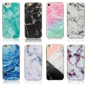 finest selection 1dd7e bc9c6 Details about Marble Rock Pattern Gel Silicone Case Cover for Apple iPhone  5S SE 6S 7 8 Plus X