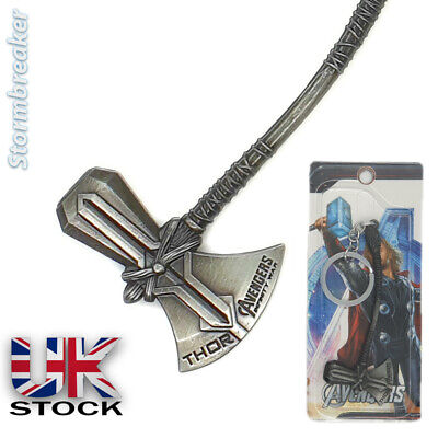 STORMBREAKER SOLID METAL AXE Thors Keyring KeyChain Well Made NOT Hammer 10cm