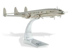 """Lockheed Super Constellation Airliner Airplane Model 27"""" Aluminum Desk Top Decor"""