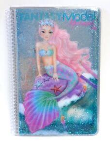 Depesche-10036-A-Fantasy-Model-Malbuch-Mermaid-Meerjungfrau-Sticker-Glitter-TopM