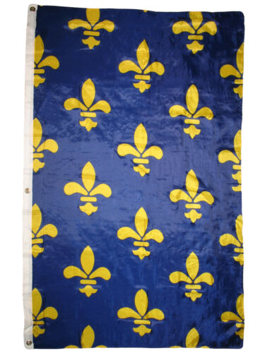 3x5 Ancien Bannière Banniere Fleur de Lis 1365 France Français Drapeau 0.9mx5/'
