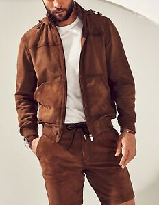 c0fdb019bc7 Image is loading MASSIMO-DUTTI-SS-Equestrian-LIMITED-EDITION-HOODED-SUEDE-