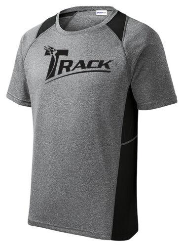 Track Men/'s Equation Bowling Performance Shirt Dri-Fit Heather Black