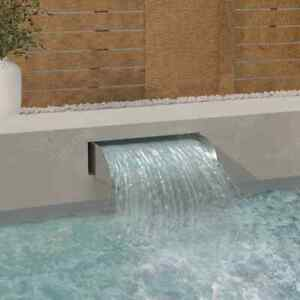 vidaXL Waterfall 60x34x14 cm Stainless Steel 304 Garden Swimming Pool Fountain