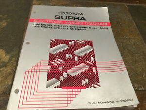 1995 1996 Toyota Supra 2JZ-GTE 2JZ-GE Wiring Diagrams ...