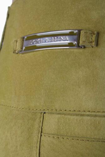 Dolce /& Gabbana Damen Lederhose Limone Grün