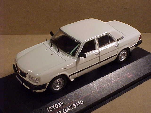 Ist 033 modellllerlero 1  43 de Metal Ist 1997 Gaz 3110 4 -dr Sedan, vit