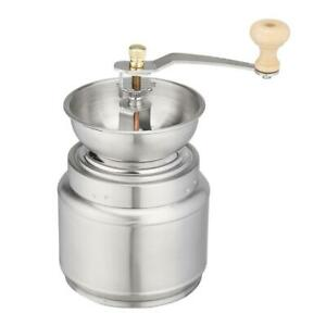 Stainless Steel Hand Manual Coffee Grinder Bean Pepper Nuts Spice Burr Mill Tool