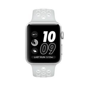 Apple Watch Series 2 Nike 38mm Silver Aluminum Case Platinum White Bnd Mq172ll A 190198398468 Ebay