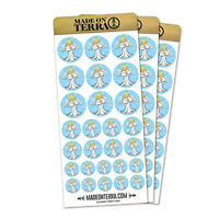 Praying Angel Removable Matte Sticker Sheets Set