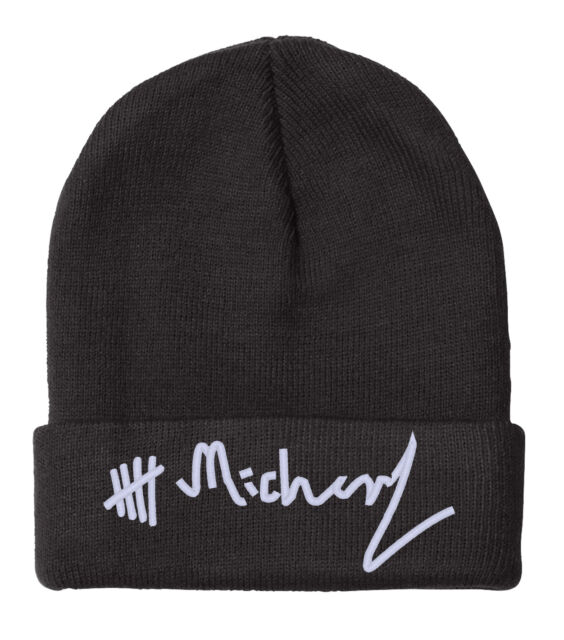 """MICHAEL CLIFFORD Signature, 5 Seconds of Summer, 12"""" BEANIE"""