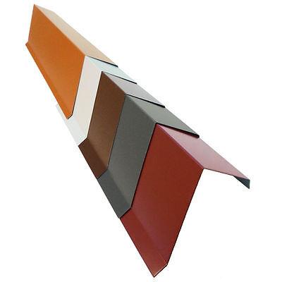 Regenrinnen & Zubehör Hingebungsvoll 2m Ortgangblech Ortblech Ortgang Dachrandblech Aluminium Alu Farbig Beidseitig
