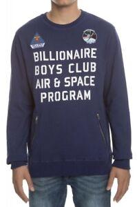 08aefd7746d6 Billionaire Boys Club Men s BB Program Crew Sweater Patriot Blue ...