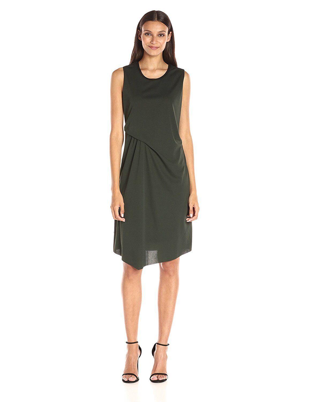 ELIE TAHARI Isolde Olive Grün Draped Dress Größe M NWT