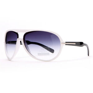 0a55e72dcaf Women s Thick Frame Aviator Sunglasses with Stripe Accent - White ...