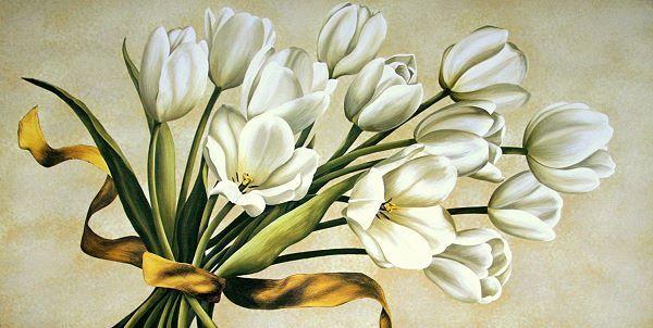 Corradini   Bouquet Perla Tulipes Tableau Prêt