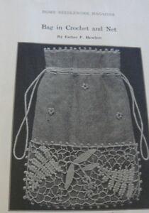 RARE VTG 1910s HOME NEEDLEWORK EMBROIDERY MAGAZINE CROCHET KNITTING BOOK 1916