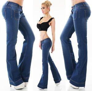 36fa46fa368d3 La imagen se está cargando Pantalones-Vaqueros -De-Mujer-Boot-Cut-Recortado-flarecut-