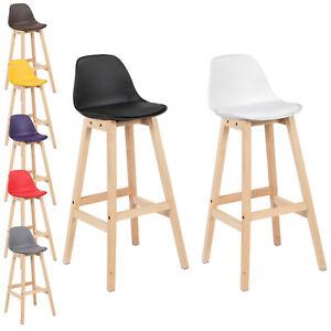 2 x barhocker barstuhl k chenstuhl holzgestell mit lehne. Black Bedroom Furniture Sets. Home Design Ideas