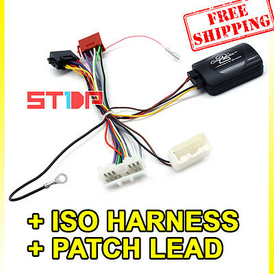MITSUBISHI CHALLENGER PB STEERING WHEEL CONTROL HARNESS + ISO WIRING+PATCH LEAD
