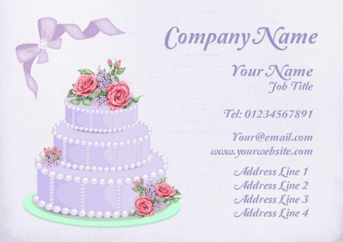 Purple gâteau cartes de visite personnalisées